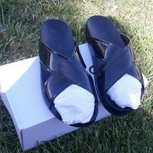 Aldo slip on sandals